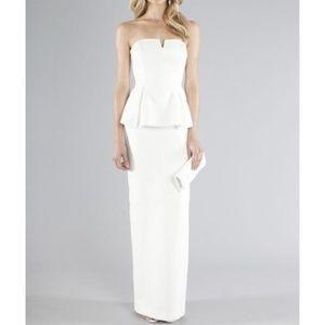 Nicole Miller Merril Peplum Gown